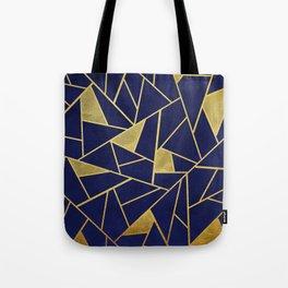 Geometric indigo & gold pattern Tote Bag
