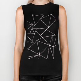 Ab Dotted Lines Pink on Blue Biker Tank