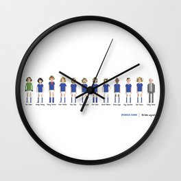 Ipswich Town - All-time squad Wall Clock