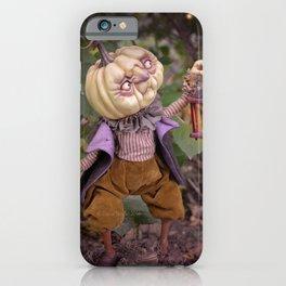 Rucus Studio Pumpkin Man and Fireflies iPhone Case