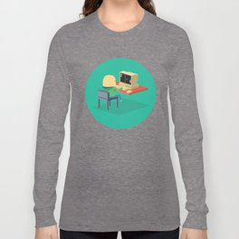 Nerd playing Pong Long Sleeve T-shirt
