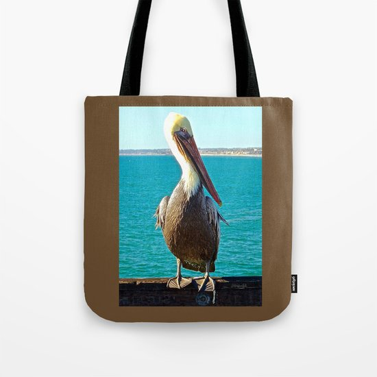 Portrait of a Perky Pelican Tote Bag