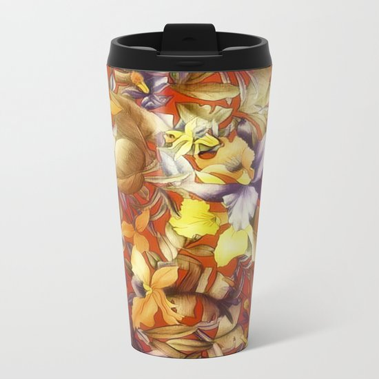 Summer Blooms Metal Travel Mug