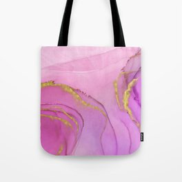 Abstract alcohol ink painting - Selina Tote Bag