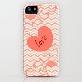 Chevron Love Peach iPhone Case