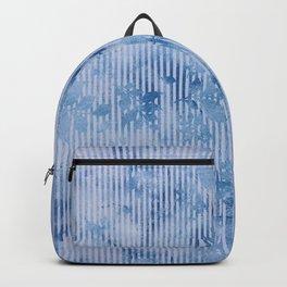 Geometric vintage modern navy blue white watercolor floral Backpack