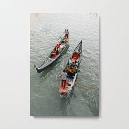 Venetian Gondola Ride Metal Print