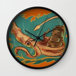 Squid & Tiki Wall Clock