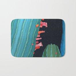 Midnight Cactus Conversations Bath Mat