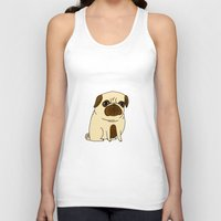 pugs Tank Tops featuring Pugs Not Drugs by gemma correll