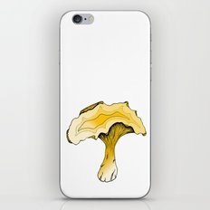 Chanterelle Mushroom, Hand drawn, Pen and Ink, Food, Nature iPhone & iPod Skin