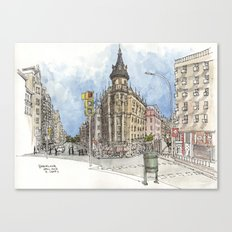 Barcelona Street Scene Canvas Print