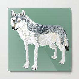 Totem Alberta Wolf Metal Print