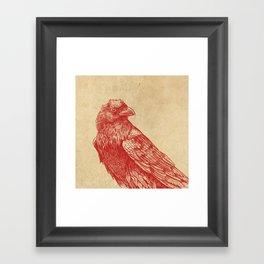 Red Raven  Framed Art Print