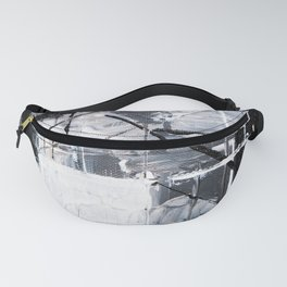 Black & White Abstract Painting Fanny Pack