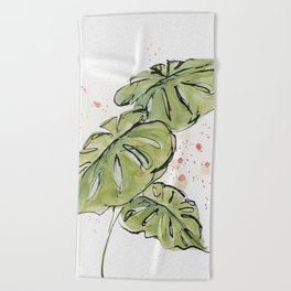 Tropical Foliage Beach Towel
