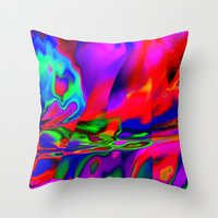 cracked Throw Pillows featuring Cracked by David  Gough