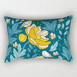 Art nouveau golden Rectangular Pillow