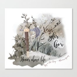 Sky in the Deep Viking quote Canvas Print