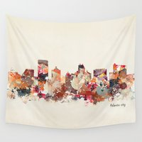 new jersey Wall Tapestries featuring atlantic city new jersey by bri.buckley