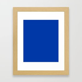 Royal azure - solid color Framed Art Print