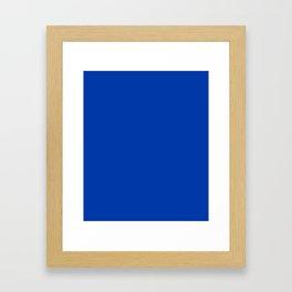 Royal azure - solid color Framed Art Print