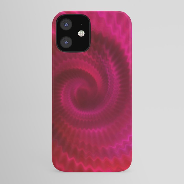 Red Power Wave iPhone Case