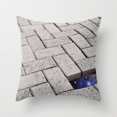 Holes in the Fabric Throw Pillow