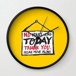 No Thank You Wall Clock