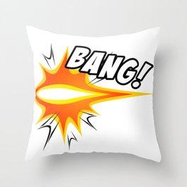 Manga Sound Effect - BANG! Throw Pillow