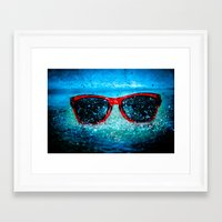 tyler oakley Framed Art Prints featuring Oakley by stawickiphoto