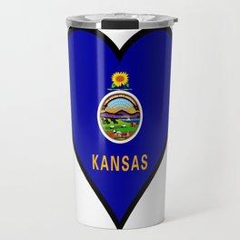 Love Kansas Travel Mug