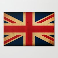union jack Canvas Prints featuring Union Jack by NicoWriter