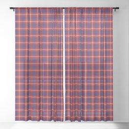 Ainslie Tartan Plaid Sheer Curtain