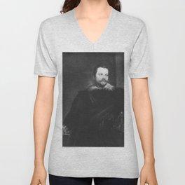 Anthony van Dyck - Portrait of Enrico Concini, Count de Peña Unisex V-Neck