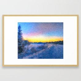 Cold Dawn Framed Art Print