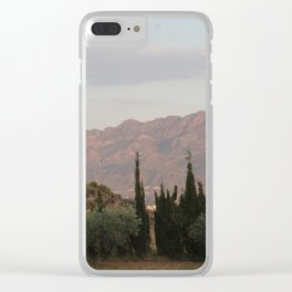 Simmering Sierra Clear iPhone Case