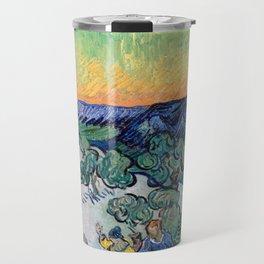 Couple Walking among Olive Trees, Vincent Van Gogh Travel Mug