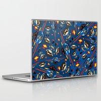 superhero Laptop & iPad Skins featuring Mini Superhero by markmurphycreative