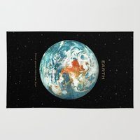 earth Area & Throw Rugs featuring Earth by Terry Fan