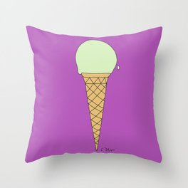 P I S T A C H I O w/S U G A R  C O N E Throw Pillow