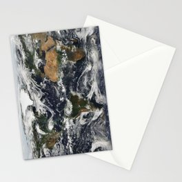 Map of Earth Stationery Cards