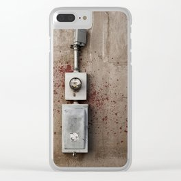 Blood Box Clear iPhone Case