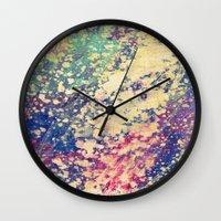 acid Wall Clocks featuring Acid by Fernando Vieira