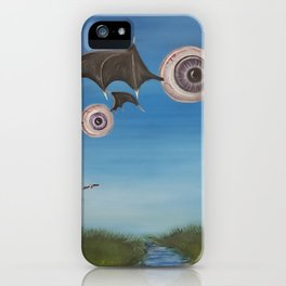 Flying Eyeballs iPhone Case