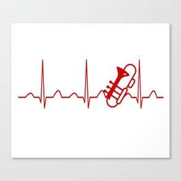TROMBONE HEARTBEAT Canvas Print