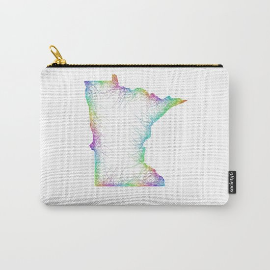 Rainbow Minnesota map Carry-All Pouch