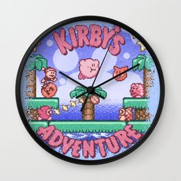 Adventure Kirby Wall Clock