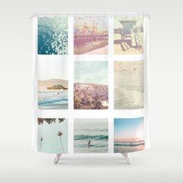 California Dream 9UP 9 Print Shower Curtain