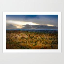 Overlook From Bradbury Mountain Art Print
